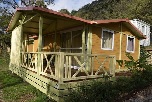 Chalet PMR Camping La Charderie Ardèche